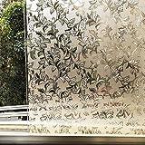 LMKJ Película de Ventana de Mantenimiento Fresco estático de Hojas esmeriladas,Pegatina de Vidrio de protección de privacidad de Vinilo marrón,película de Vidrio para el hogar A19 60x200cm