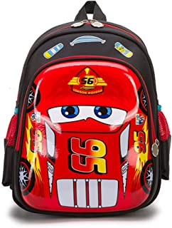 Mochila para Niño, Mochila Eecolar Dibujos Animados Anime Cars Mochila De Estudiante Impresa (Rojo)