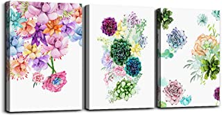 Canvas Wall Art for living room bathroom Decor for bedroom kitchen artwork Canvas Prints Colorful abstract watercolor of flowers painting 12