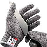 NoCry Cut Resistant Gloves - Ambidextrous, Food Grade, High Performance Level 5 Protection. Size Medium, Complimentary...