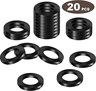 20 Pack Shower Head Washers Rubber Washers Seals, Self Locking Tabs Keep Washer Firmly Set Inside Fittings for 1/2 Inch Shower Hose Heads