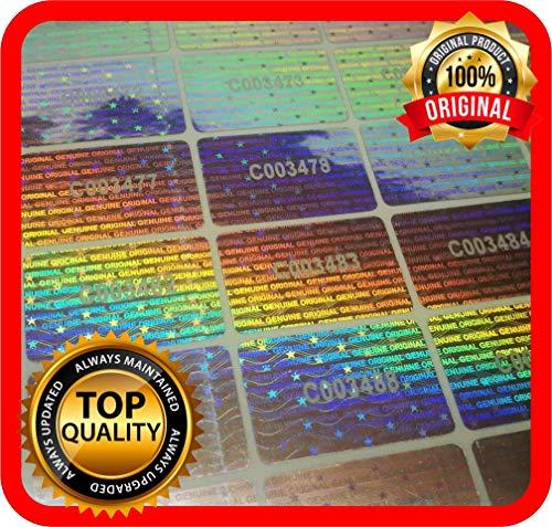 Holomarks 70 St. 30x20mm Hologramm Etiketten mit Seriennummern, Garantie Siegel Aufkleber