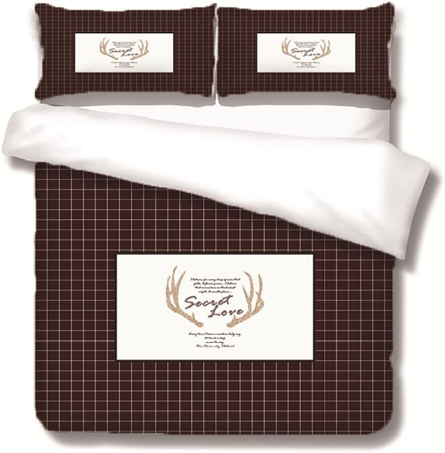 WDMXNZ Bedding for Girls Boys Cute C Brown Quilt Ranking TOP2 Set Large special price !! Plaid
