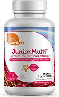 Zahler Junior Multi, Chewable Multivitamin for Kids, Great Tasting Kids Multivitamin, Certified Kosher (90 Chewable Tablets)