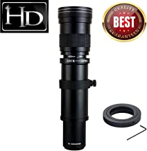 JINTU 420-800mm f/ 8.3-F16 Telephoto Zoom Camera Lens for Canon EOS Rebel APS-C DSLR 60D, 77D, 70D,80D, 650D, 750D, 7D, T7i, T7s, T7, T6s, T6i, T6, T5i, T5, SL2 SL1 Digital SLR Cameras + Carry Bag