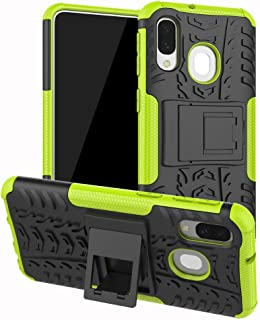 Galaxy A30 Case, WindCase Heavy Duty Armor Tough Hybrid Shockproof Dual Layer Kickstand Protective Case Cover for Samsung Galaxy A30 Green