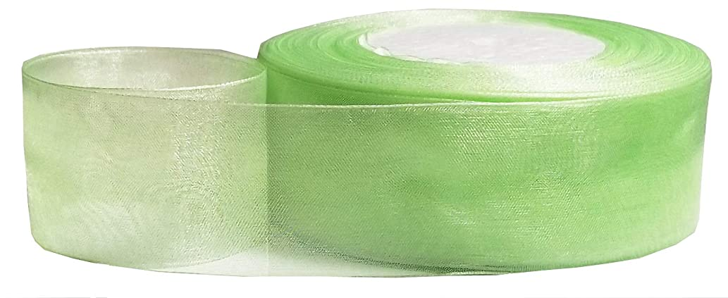 Q-YO Glitter/Sheer Non-Wired Ribbon for Crafts/Gift Package Wrapping, Accessories Making, Great Ribbon for Christmas Tree Garlands, Gift Ribbon Bows, Decorating, Party (50yd 1.5