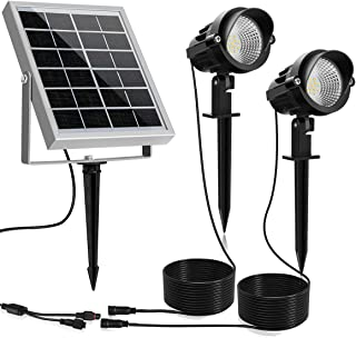 MEIKEE Solar Outdoor Spotlight 2 in 1, Solar Landscape Lights with Waterproof IP66, Warm White Solar Lights Outdoor Spotli...