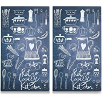 Zeller 26308 Lovely Kitchen - Tabla para cortar de cristal,  52 x 30 cm, 2 unidades