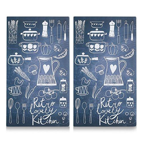 Zeller 26308 Lovely Kitchen - Tabla para cortar de cristal