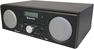 Roadstar HRA-9D+BT Microcadena Bluetooth, CD, USB, FM Radio, DAB+, AUX, Mando a Distancia, 240 W, Madera Negra