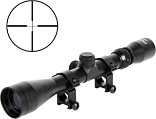Pinty Rifle Scope 3-9x40 Duplex Crosshair R4 Reticle with 20mm Free Mounts