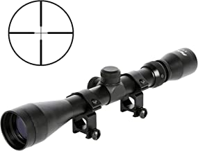 Pinty Rifle Scope 3-9×40 Duplex Crosshair R4 Reticle with 20mm Free Mounts
