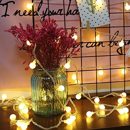 WANGXB 100 LED 10M Guirnalda Luces Exterior,8 Modos Cadena de Luces Impermeable para Exteriores de Control Remoto Decoraciones de Jardín,Patios,Pérgolas,Navidad