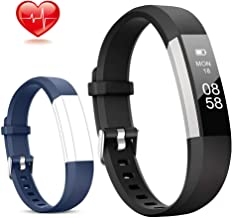 Lintelek Fitness Tracker, Activity Tracker with Heart Rate Monitor, IP67 Waterproof Step Counter, Calorie Counter, Pedomet...