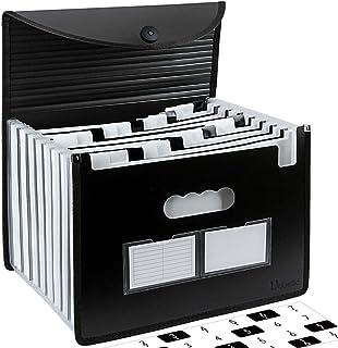 Uquelic Trieur Document A4 Extensible 24 Compartiments Porte Document Accordéon Document Fichier Wallet Boite de Classemen...