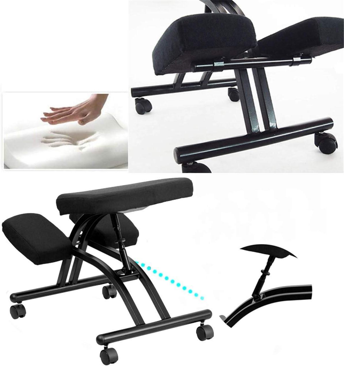 YAMMY Autopeck Chaise de Posture Ergonomique genouillère Ergonomique Support de Bureau Tabouret siège réglable Maison Confortable siège orthopédique épais Khaki