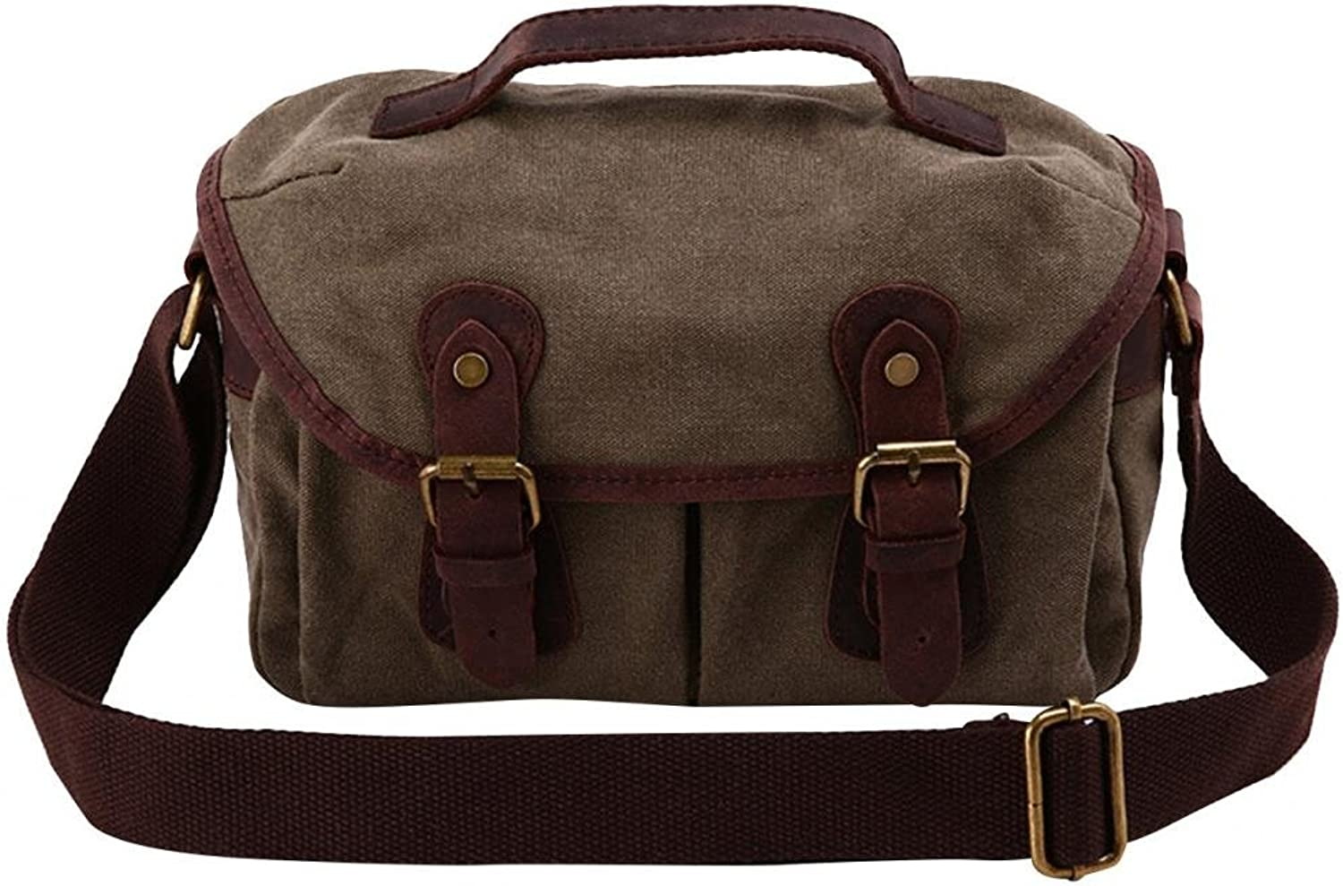 MedzRE Womens Vintage Satchel Canvas Cross Body Travel Bag