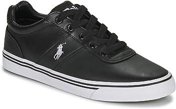 Polo Ralph Lauren, Hanford Leather Black, Zapatillas para Hombre