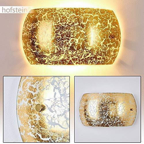 Applique da Parete Interni design moderno- Lampada da parete in Metallo color Oro- Luce diffusa adatta come Applique Salotto