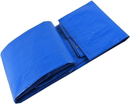 GLJ Bache Imperméable à l'eau De Bache De Tissu en Plastique De Bache Imperméable De Bache De Bache De Bache De Bache Imperméable bache (Couleur   bleu+blanc, Taille   5x7m)