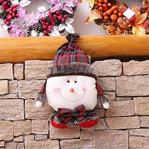 YSDNI Weihnachtsschmuck,Weihnachtskissen,Fünfsternkissen,Puppen,Schneemänner,Kissen,A1,35cm