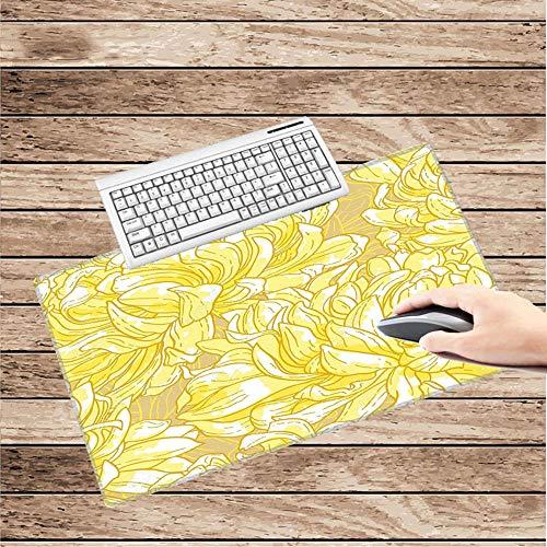 HonGHUAHUI gele motief-behang-rubber-muisonderlegger hoofdschrijftafel-computertafelbladenkantoor-muisonderlegger 300X600X2MM A09