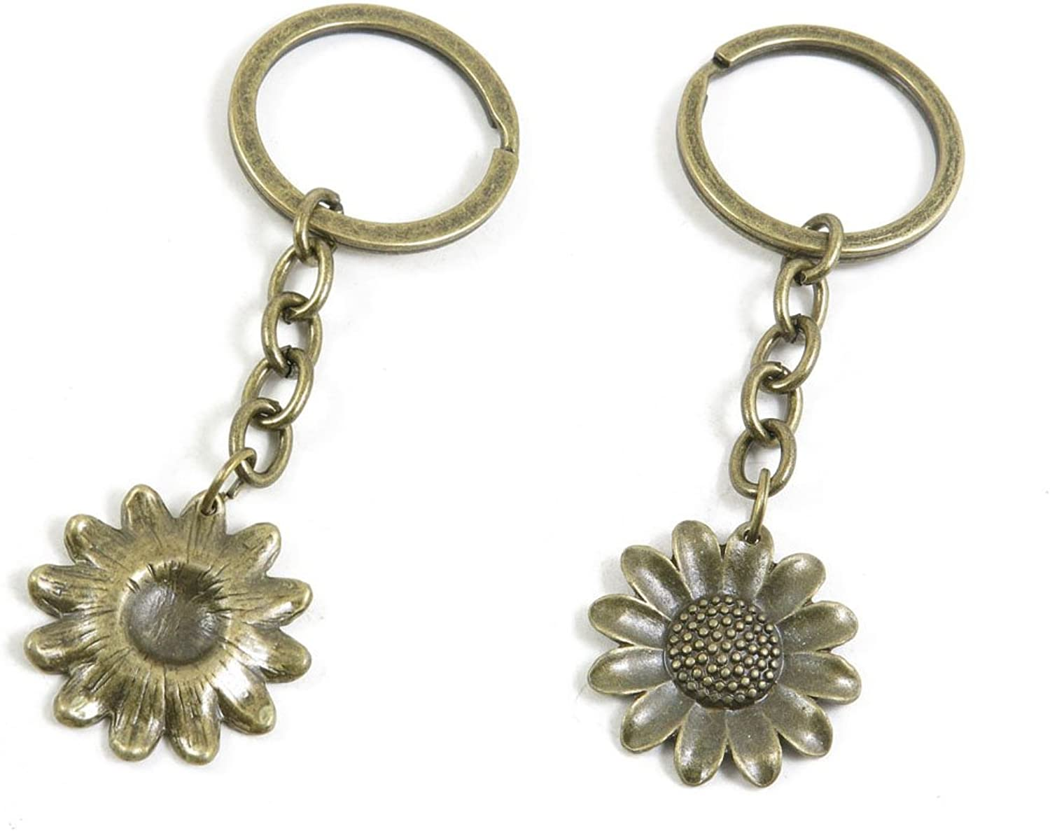 180 Pieces Fashion Jewelry Keyring Keychain Door Car Key Tag Ring Chain Supplier Supply Wholesale Bulk Lots P9HD7 Sunflower