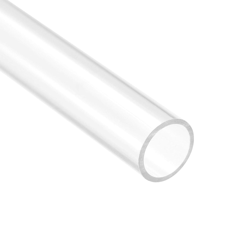 PVC Rigide Rond Tube Transparent 12mm IDx13mm OD,0.5m//1.64ft Longueur 3Pcs
