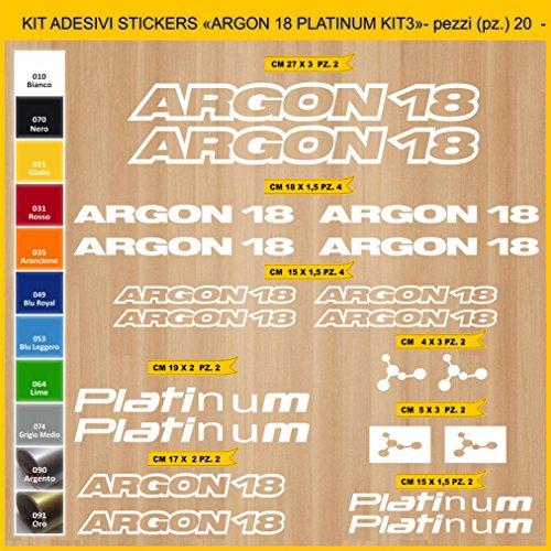 Adesivi Bici Argon 18 Platinum_Kit 3_ Kit Adesivi Stickers 20 Pezzi -Scegli SUBITO Colore- Bike Cycle pegatina cod.0838 (010 Bianco)