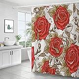 BOLO Forro impermeable de cortina de privacidad de bañera y ducha, 150X180