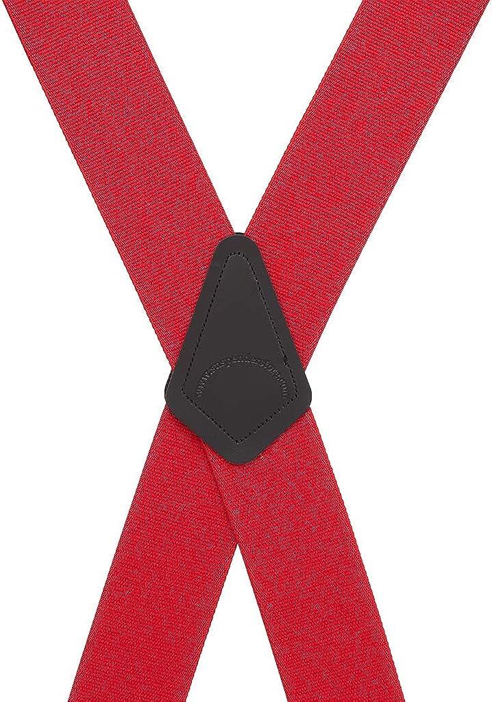 SuspenderStore Mens Classic 2-Inch Wide Pin Clip Suspenders
