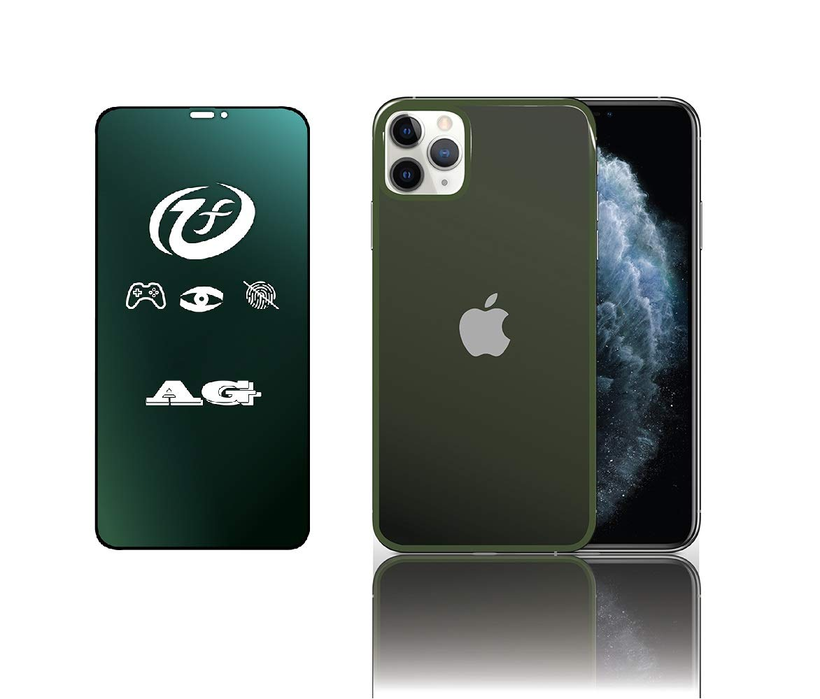 Aine Front & Back Matt 21D Tempered Glass Compatible for iPhone 21 pro  Green