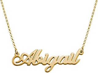 Name Necklaces - Personalized Engraved Name Pendant Jewelry Sterling Silver 925 & Gold Plating - Nameplate Necklace Christmas Gift for Her