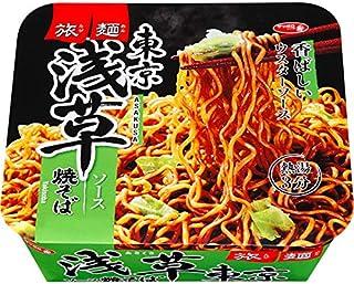 サッポロ一番 旅麺 浅草 ソース焼そば 109g 1ケース(12食入)