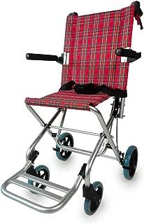 Silla de ruedas para tránsito, Plegable, Aluminio, Frenos en manetas, Cuadros escoceses, Neptuno, Mobiclinic