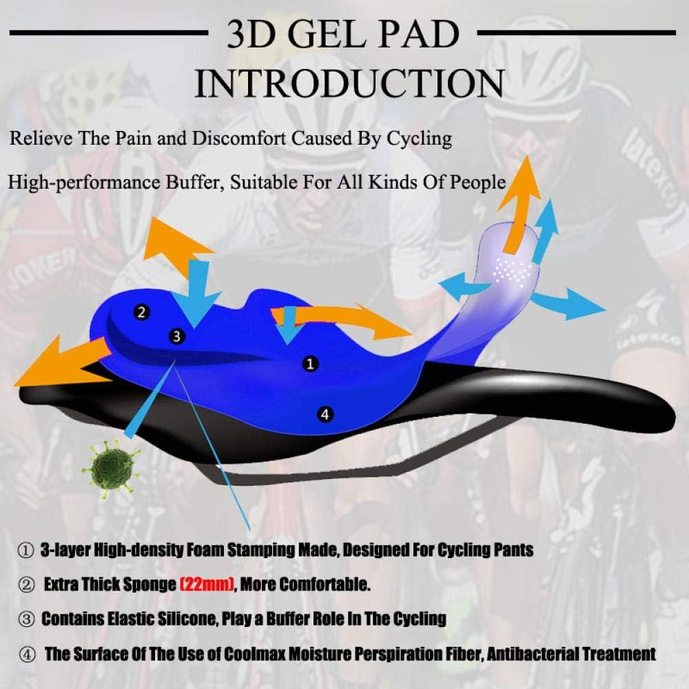 CptBtptPyy Homme Maillots de Cyclisme,Cyclisme Homme à Manches Longues Hiver, Pantalon à Bretelles avec Short d'extérieur 14