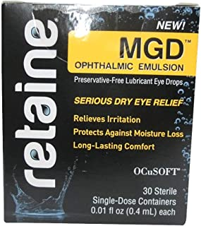 OCuSOFT Retaine MGD Ophthalmic Emulsion Sterile Single-Dose Containers 30 ea (Pack of 6)