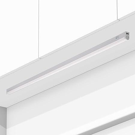 Réglette LED Raccordable 18W avec interrupteur RIGA Blanc chaud 3000K 120cm Meuble sous Cuisine Atelier Garage Cave Grenier