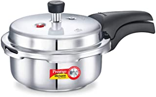 Prestige 2L Alpha Deluxe Induction Base Stainless Steel Pressure Cooker, 2.0-Liter