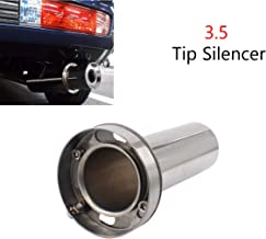 3.5'' inch Adjustable Stainless Steel Round Exhaust Muffler Tip Removable Silencer Inner Silence