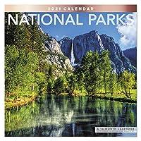 2021 National Parks 壁カレンダー 12インチ x 12インチ マンスリー (LME3081021)