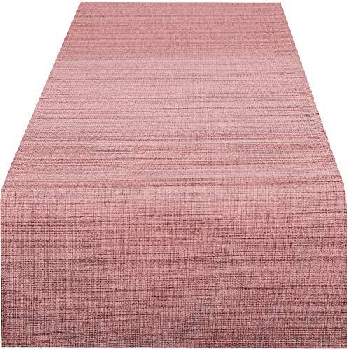 Delindo Lifestyle Tischläufer Samba, Altrosa - rosa, in 40x140 cm, Fleckschutz, abwaschbar, für Indoor und Outdoor