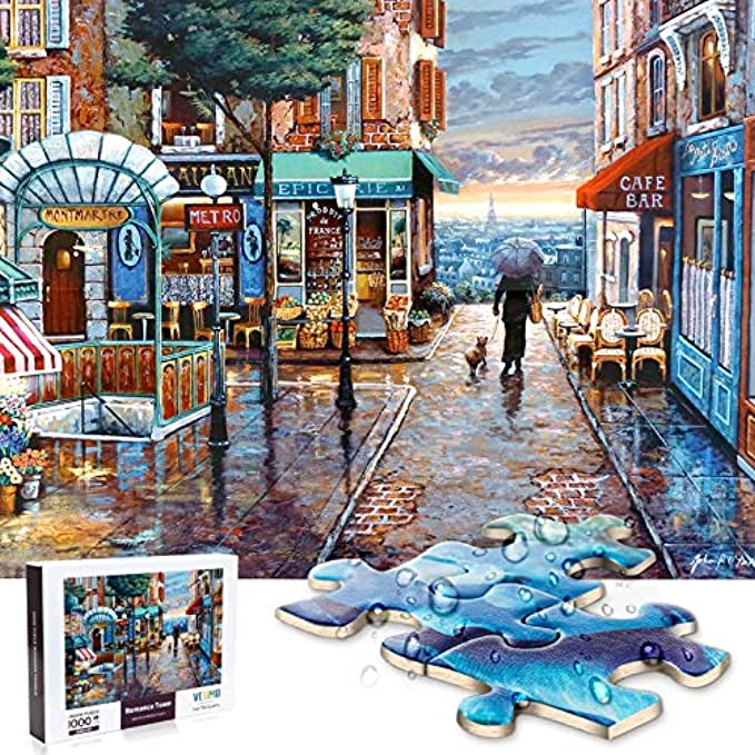 Jigsaw Puzzle 1000 Pieces for Adults, Water Resist Wooden Puzzle