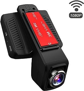 TOGUARD Cámara de Coche GPS WiFi Grande Ángulo de 170° Dash CAM Full HD 1080P Dashcam Coche con Objetivo Ajustable Pantalla 2.45 Pulgadas IPS LCD Grabación en BucleDetección de Movimiento Monitor