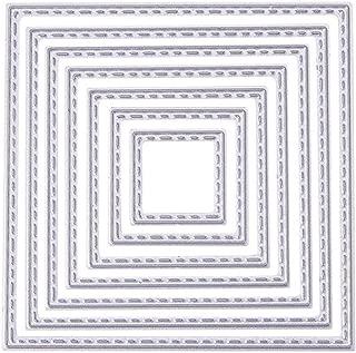 ZbFwmx Square Cutting Dies Stencil DIY Scrapbook Album Paper Card Embossing Tool