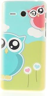 thematys® Huawei Ascend Y530 hardcase Dos BUHOS Carcasa de la Carcasa Prado Diseño Carcasa del Protector de la Carcasa del...
