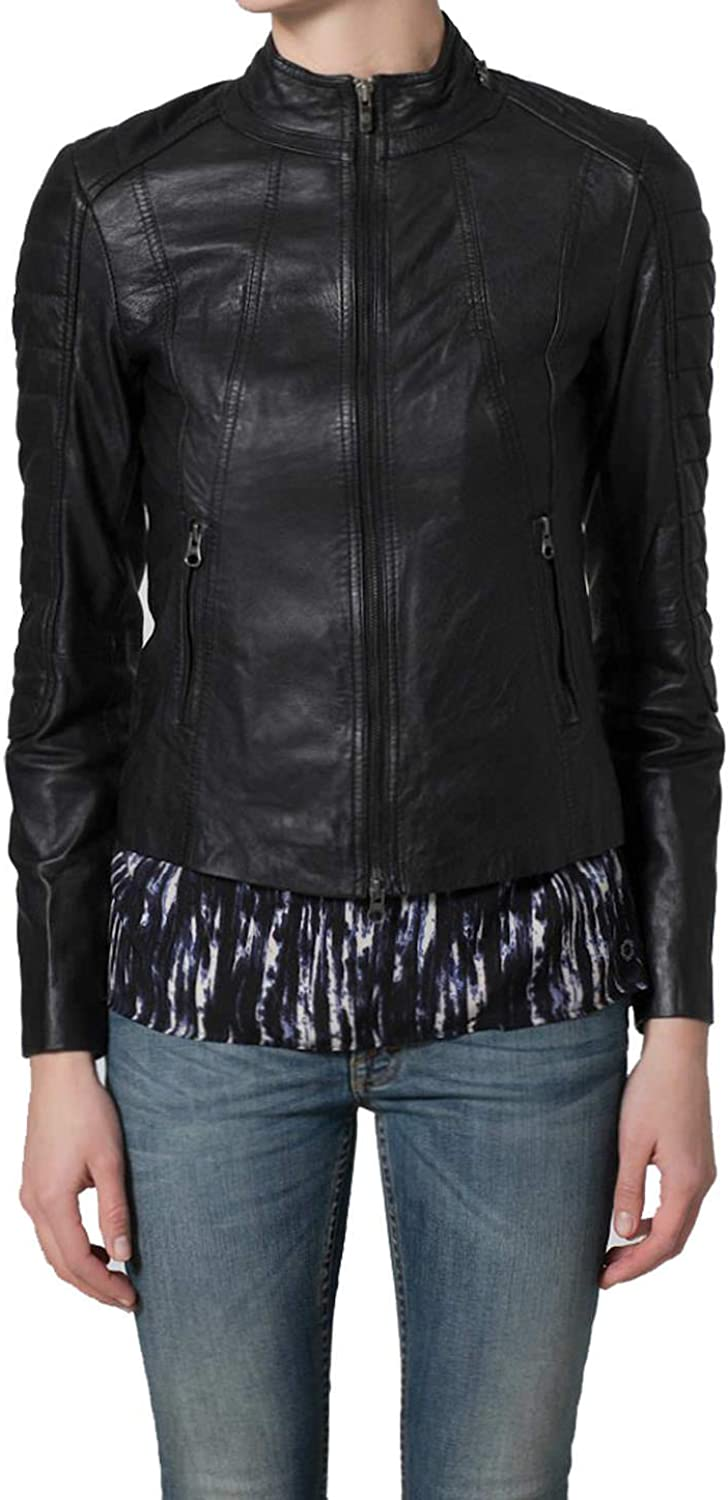 Women's Stylish Lambskin Genuine Leather Jacket WJ113