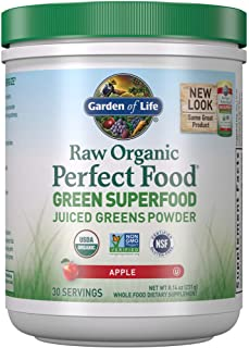 Garden of Life Raw Organic Perfect Food Green Superfood Juiced Greens Powder - Apple, 30 Servings (Packaging May Vary) - V...