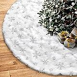 HusDow Faldas de árbol de Navidad, 78 cm, piel sintética, base de árbol, base de árbol, alfombrilla para decoración de Navidad, Navidad, decoración de árbol